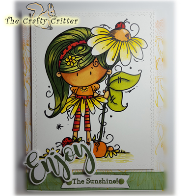 Handcrafted Just Because Card - Enjoy the Sunshine