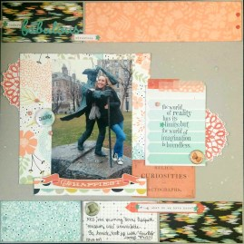Anne-Marie Marcoux: I lifted Jen's layout and used moodboard colours. I can't believe I finally managed to use that odd black splotchy paper and it actually looks good!