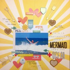 Shannon Daley Allor: This was such a fun, almost exact scraplift of a layout by Ashley Horton.