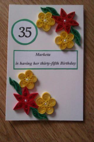 4. Quilled Creations by me card
