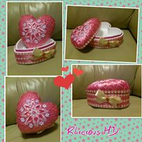 5. Ribbonlicious Handmade Decorations trinket box heart