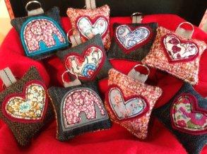 Keyrings or bag charms