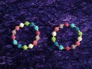 Coco Creations shamballa beaded bracelets