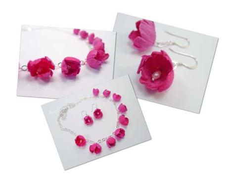 11. Ann Cawley Jewellerysilk necklace and earrings