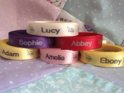 Love Rainbow Ribbons name on ribbons