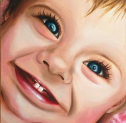 Ruby In Wonderland Acrylic on canvas Olivia