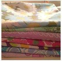 The U in cute Handmade Homewares vintage fabric cushion covers