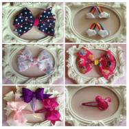 1. Hannahs Bowtique bow clips