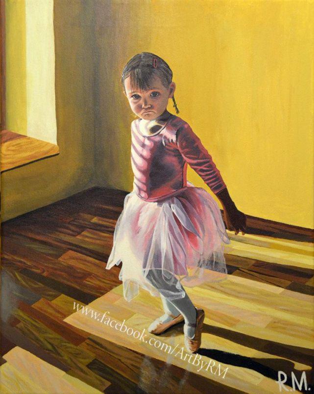 13. Art by RM little ballet dancer