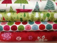 14. Quilty Pleasures fat quarter bundles Makovers Moden Christmas