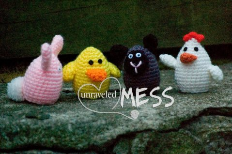 15. Unraveled mess toddlers amigurumi