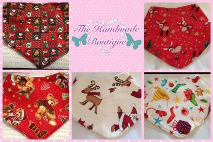 3. The Handmade Boutique christmas bibs
