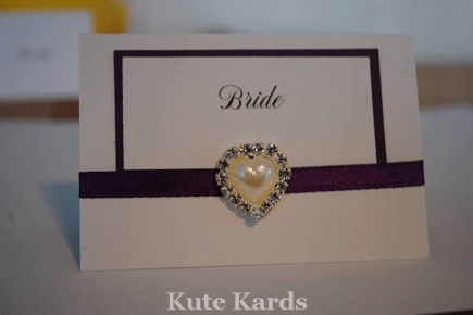 5. Kute Cards place cards