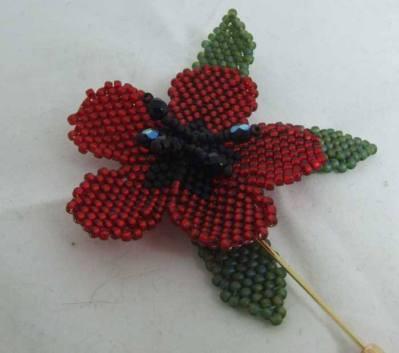 8. Jewellery My Design beaded poppy