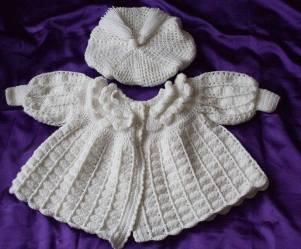 8. L J Crochet baby set