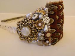 5. Pearls and Petticoats bridal headpiece
