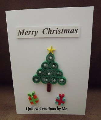 9. QUILLED CREATIONS BY ME Item 3 Christmas tree card