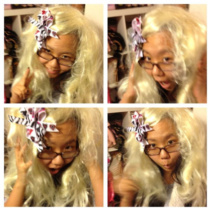 Asian Blonde Wig Bow