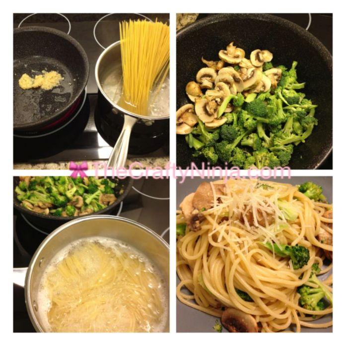 garlic broccoli mushroom pasta