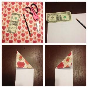 origami heart step 1