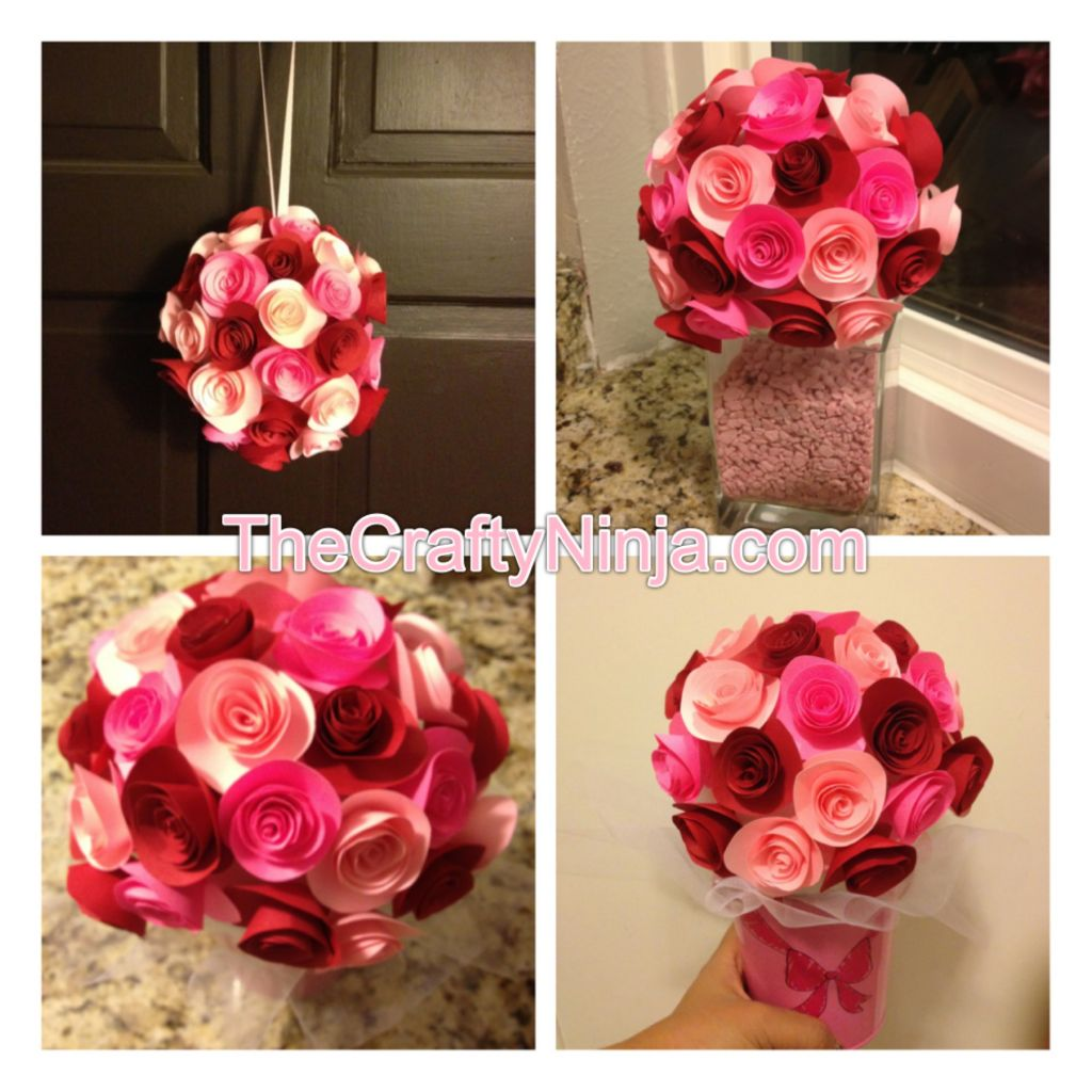 Diy Paper Rose Flower Tutorial The Crafty Ninja