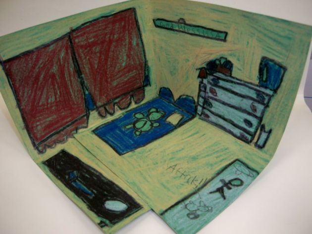 van gogh bedroom art lesson 3