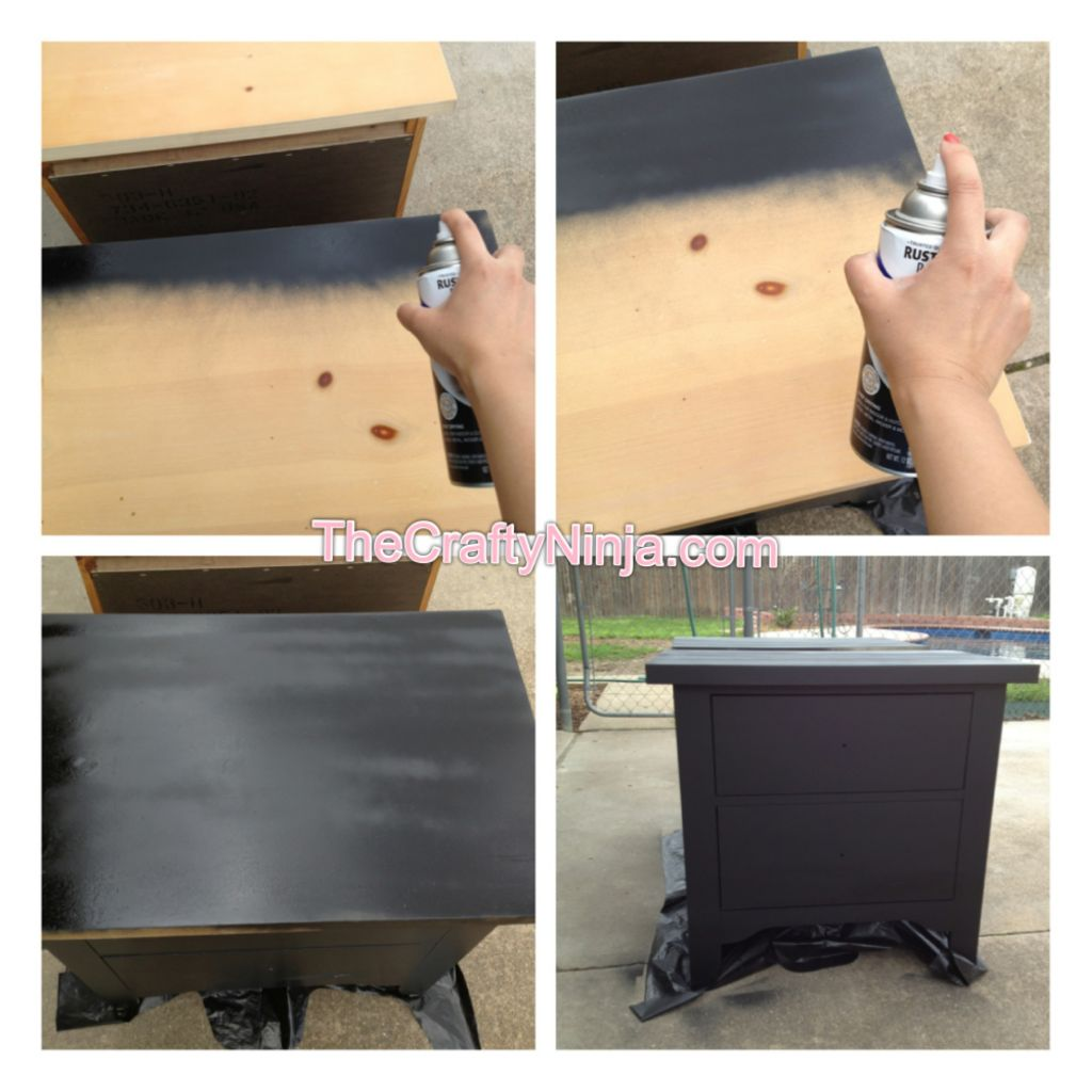 How To Use Spray Paint To Paint Furniture The Crafty Ninja