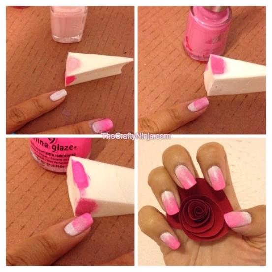 ombre sponge nails