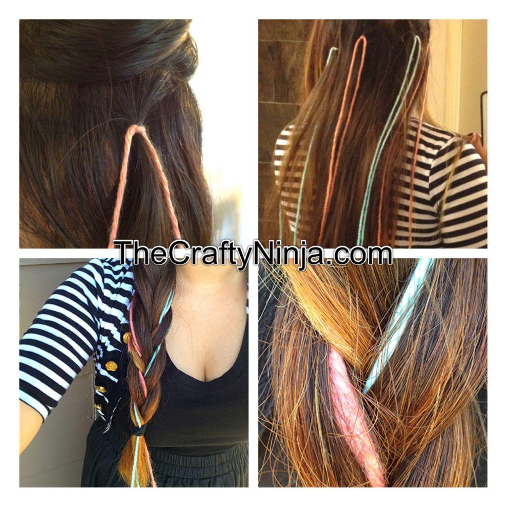 Kool Aid Yarn Dye Hair Braid The Crafty Ninja