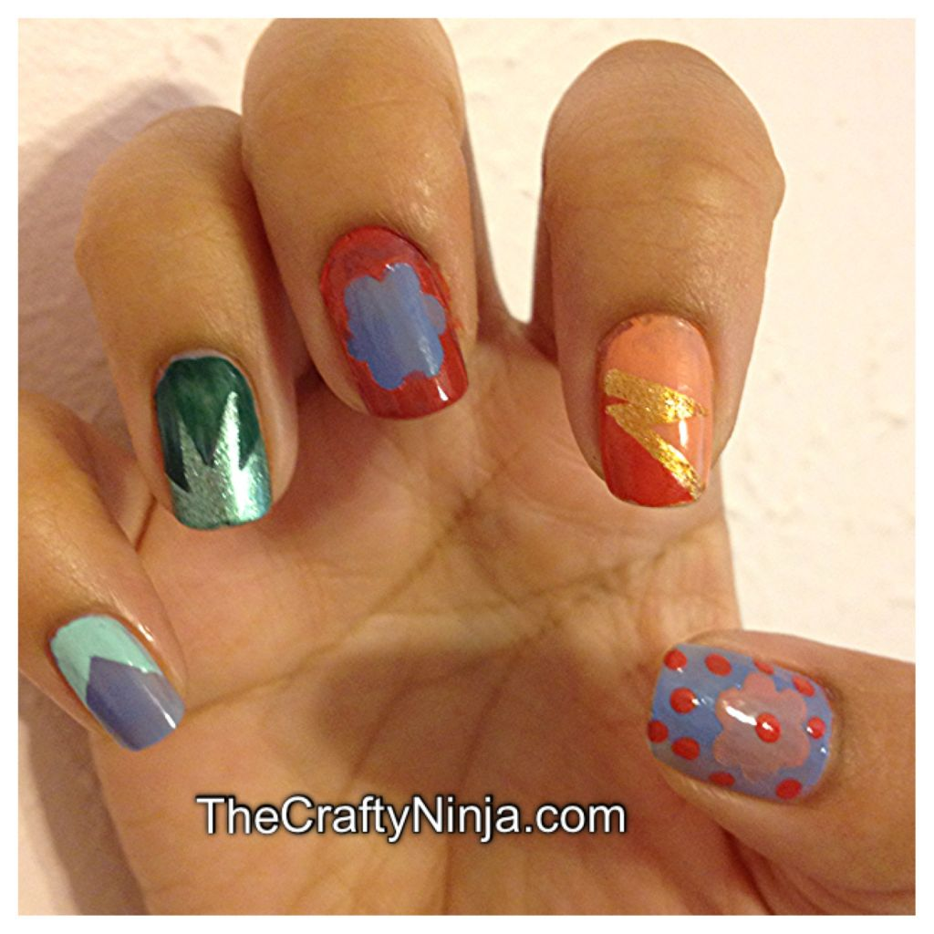 Nail Tape Designs | The Crafty Ninja