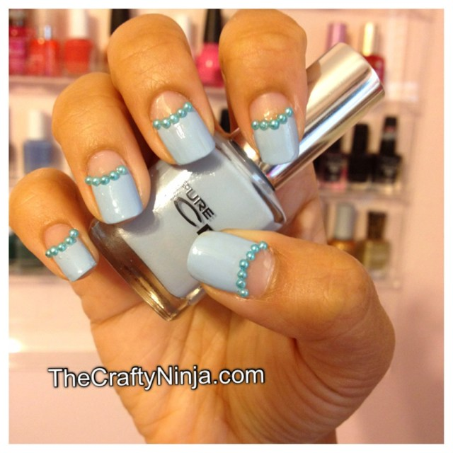 sky blue summer nails