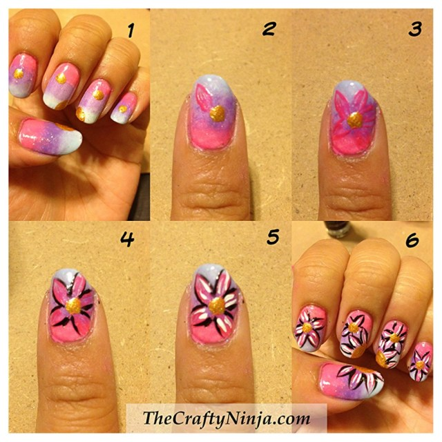 diy flower nails