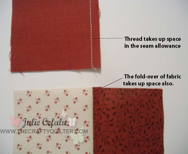 "How to achieve the perfect 1/4"" seam allowance @ The Crafty Quilter"