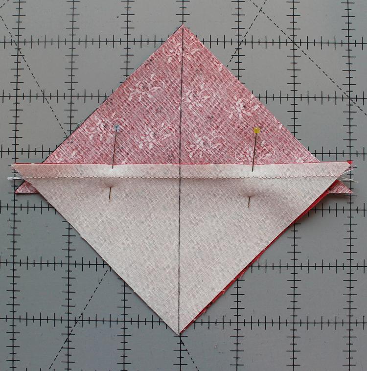 Quarter-Square Triangle Tutorial - The Crafty Quilter