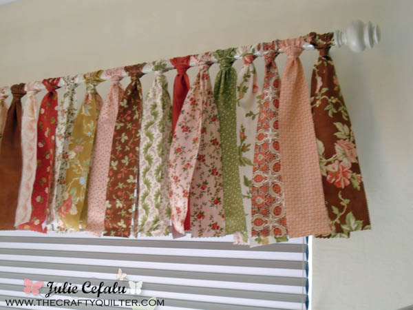 Jelly Roll Window Valance @ The Crafty Quilter