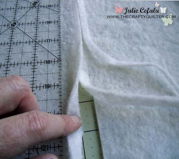 How to piece batting scraps together - Part 1 - The Crafty Quilter : piecing quilt batting - Adamdwight.com