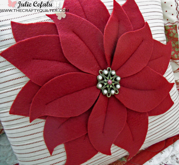 Poinsettia Pillow at The Crafty Quilter