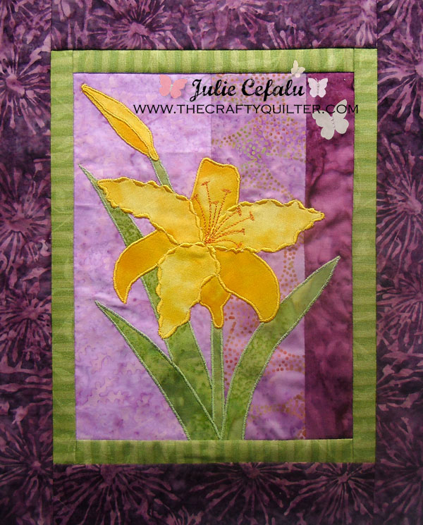 Raw Edge Applique Example by Julie Cefalu