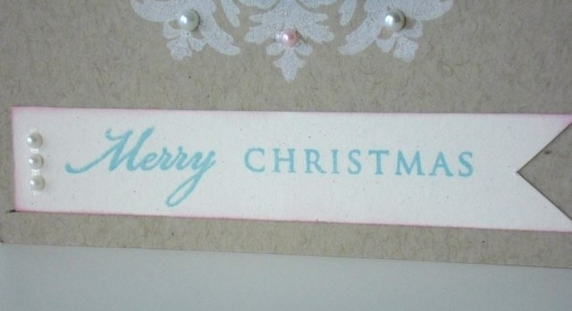 Ribbon Wreath Christmas Card at The Crafty Quilter