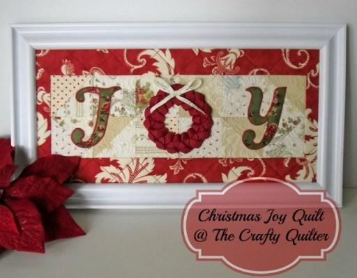 Christmas JOY Framed Quilt
