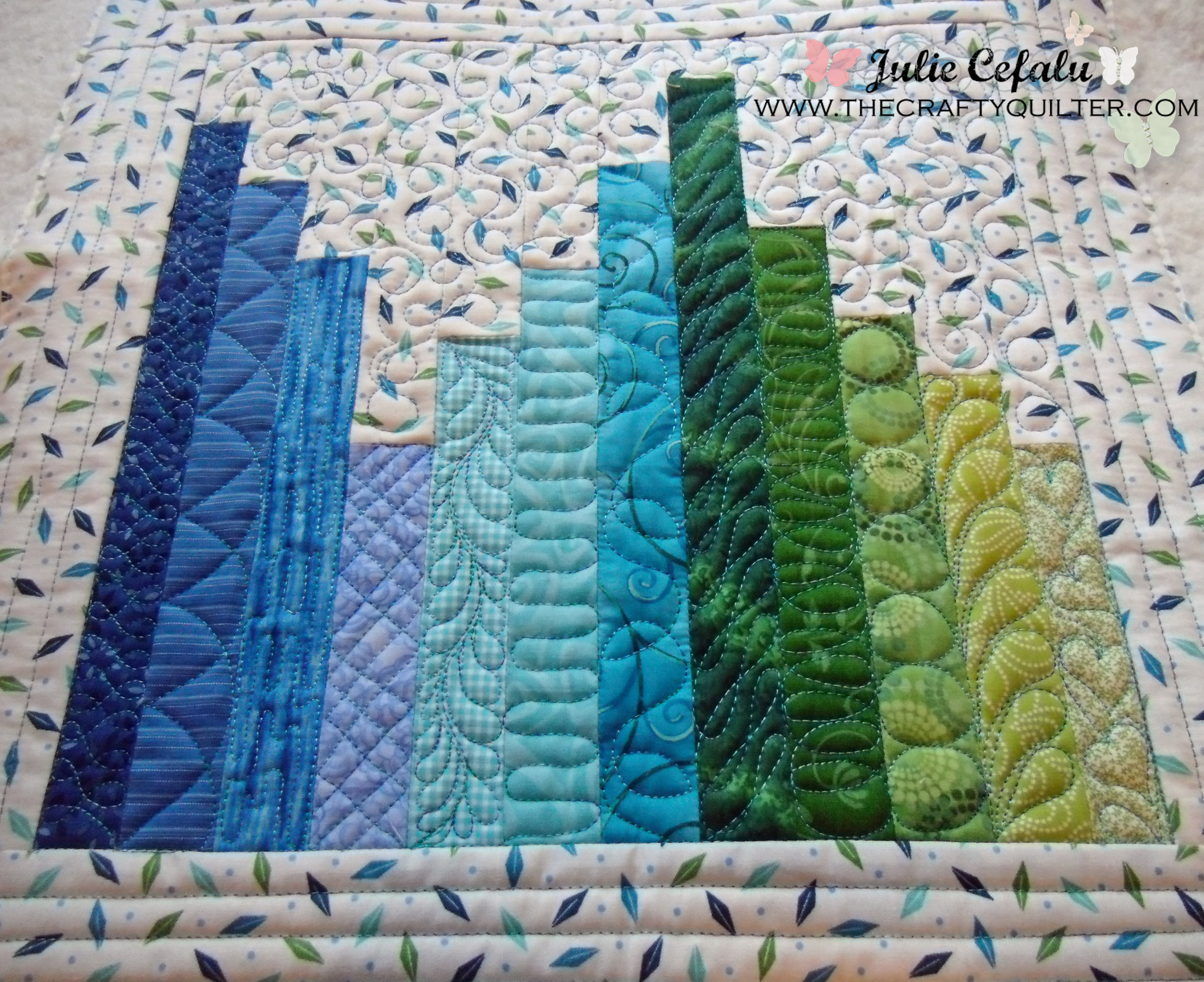 Wip for today the crafty quilter for Quilting templates for borders