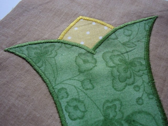 Satin stitch detail