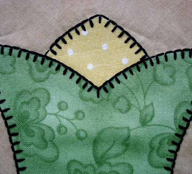 blanket stitch points