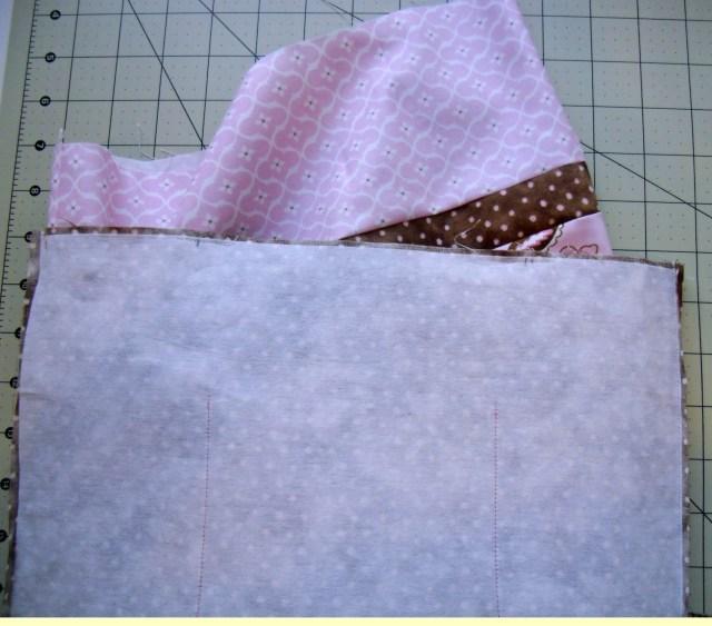insert bag into lining
