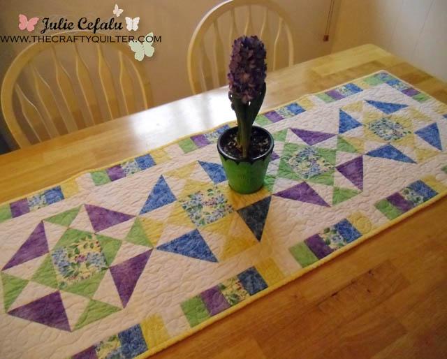 Spring Table Runner made by Julie Cefalu