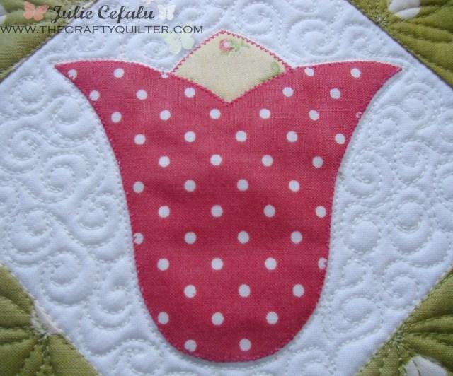 Tulip Applique @ The Crafty Quilter