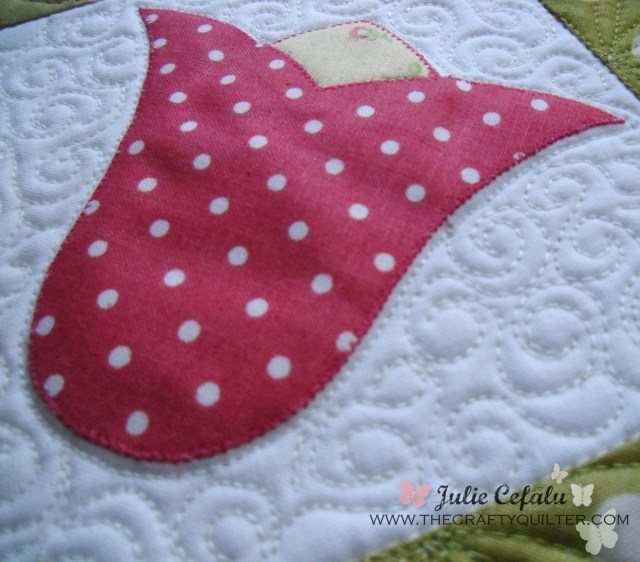 Tulip Applique at The Crafty Quilter