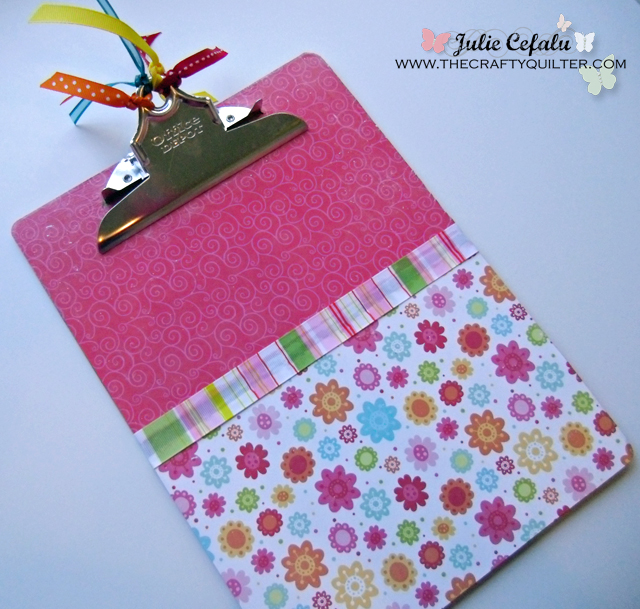 Decorating & Organizing with Clipboards at The Crafty Quilter