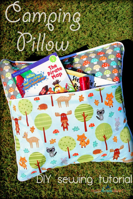 camping pillow tutorial
