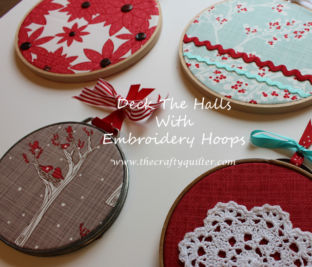 christmas embroidery hoops